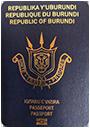 Passport index / rank of Burundi 2020