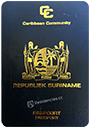 Passport index / rank of Suriname 2020