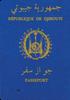 Passport of Djibouti