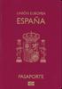 Passport of Spain