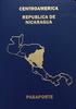 Passport of Nicaragua